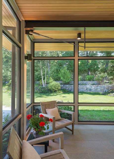 Modern Screen Porch Wellesley Modern Sunroom Boston
