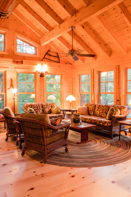 Moose Cottage Rustic Sunroom Other Metro By