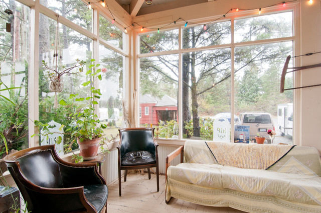 Mountain style sunroom photo in Other