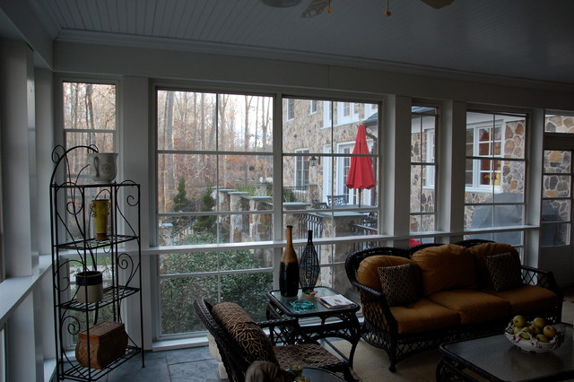 New England Neo Colonial Traditional Sunroom