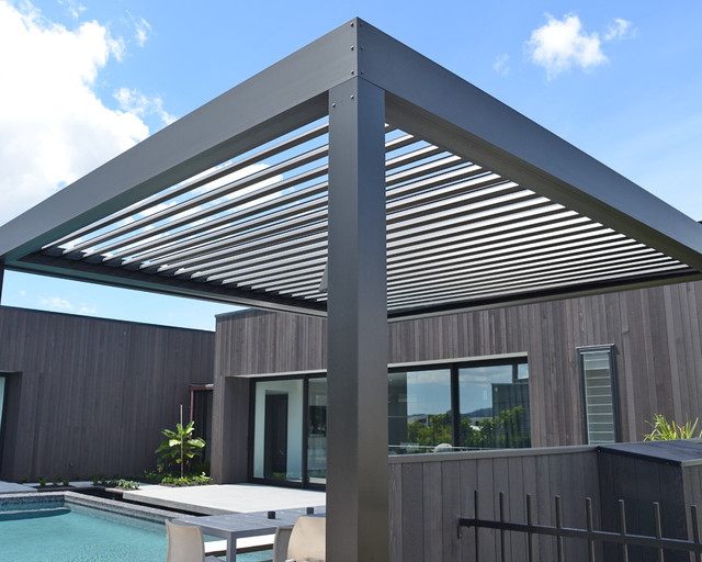Opening Louvre Roofs Contemporary Sunroom Sydney