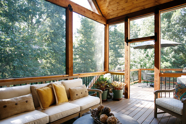 Outdoor Living Space Enhances a Backyard View - Rustic ... on Houzz Outdoor Living Spaces id=20440