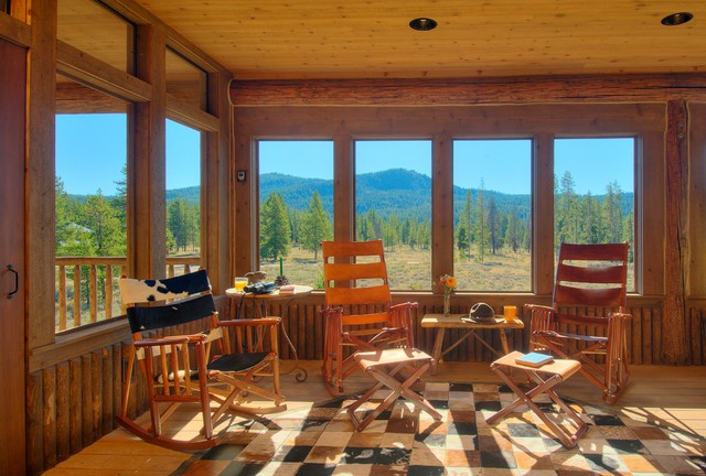 Pacific creek rustic sunroom other by mountain for Rustic sunrooms