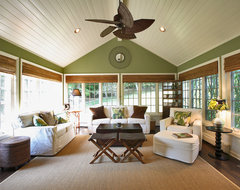 Plantation Sunroom tropical family room