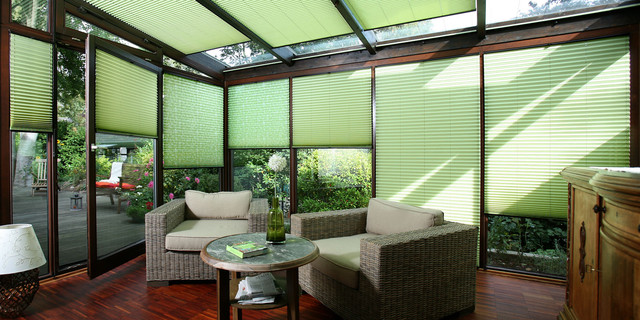 Pleated Blinds Made in Germany Contemporary Sunroom