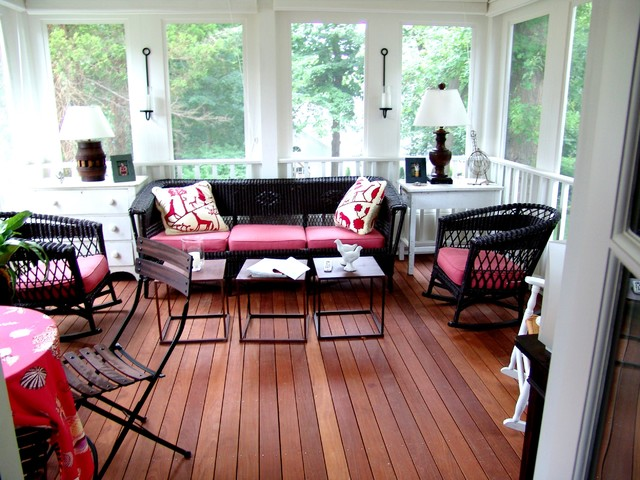 Porch traditional-sunroom