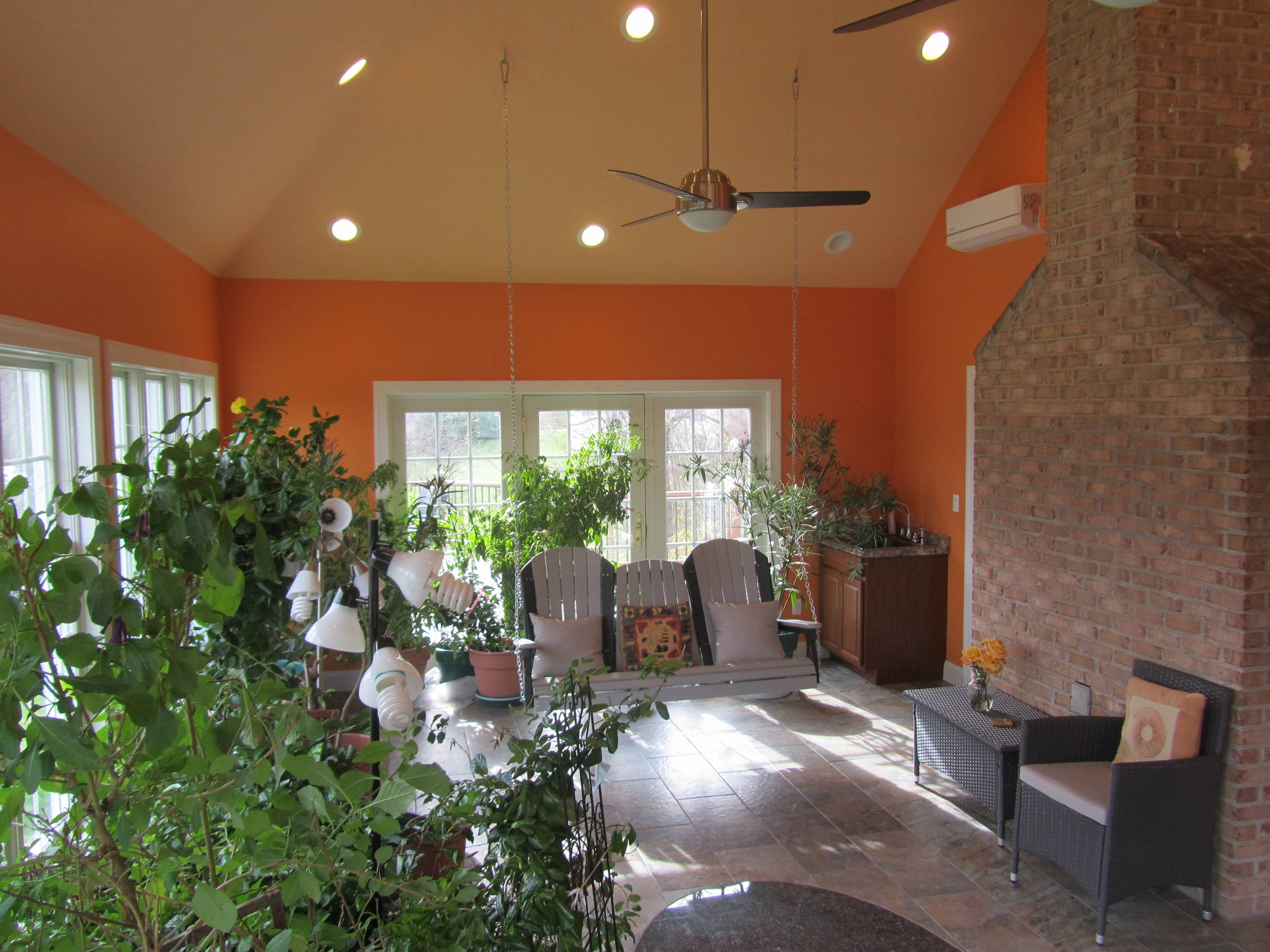 Reisterstown Sun Room with Pond and Deck