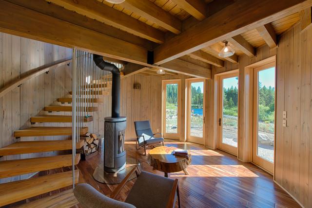 Rustic modern idaho home rustic sunroom boise by for Rustic sunrooms