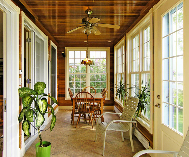 Sample Home Builder Photographs Traditional Sunroom