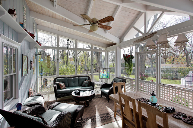 Screened Porch Traditional Sunroom Other Metro By