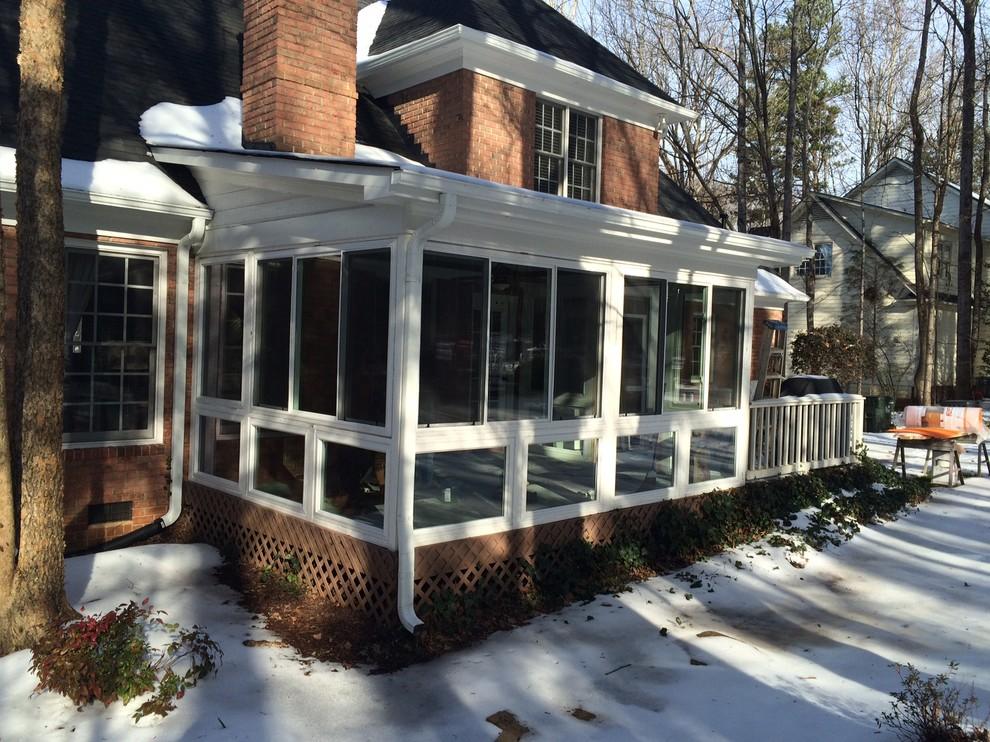Screened Porch To Sunroom Conversion In