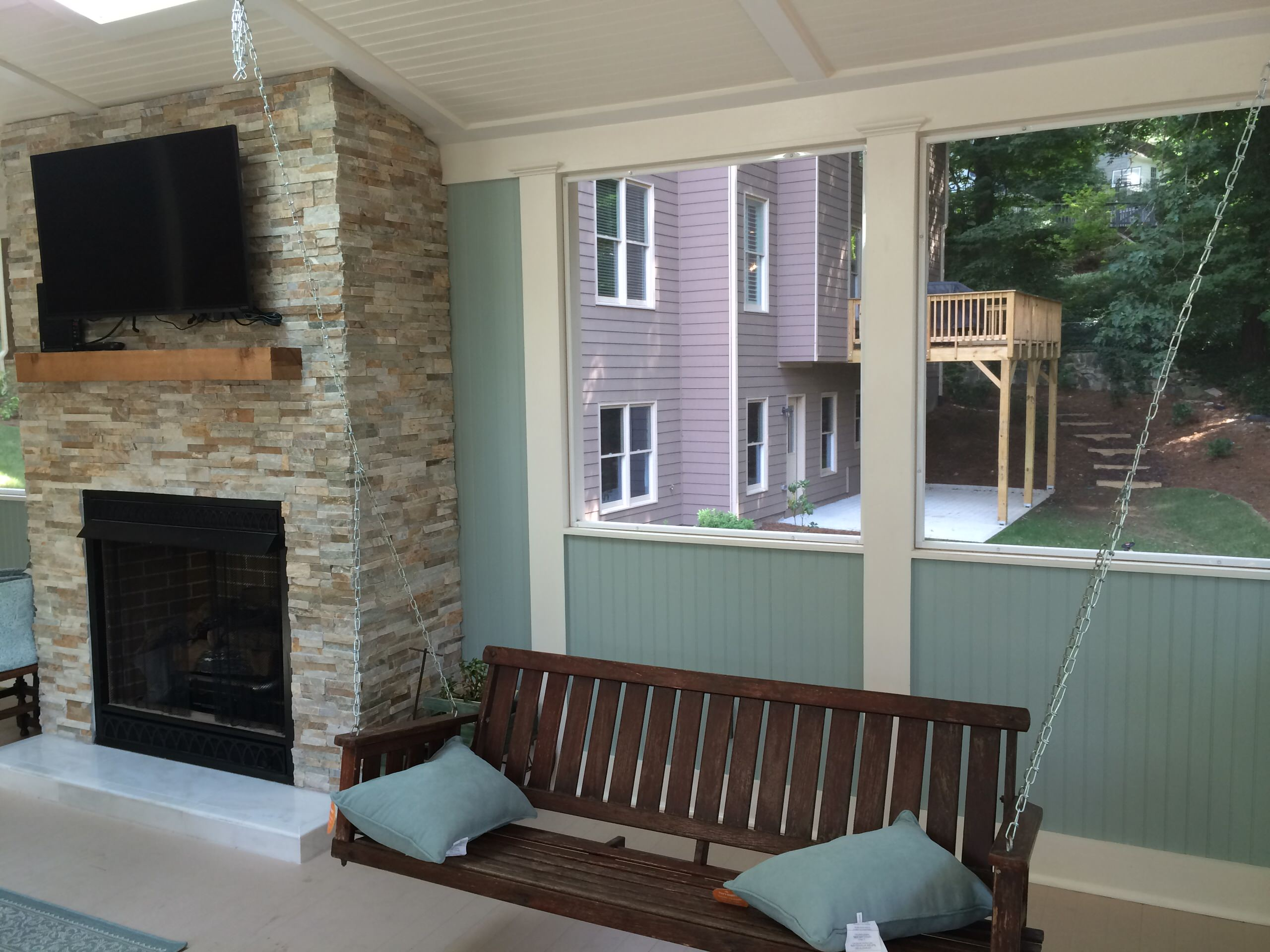 Second Story Screened In Porch