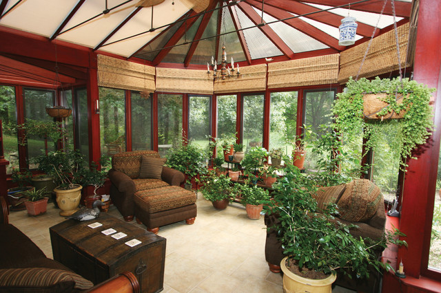 Semi custom victorian conservatory interior for Victorian sunroom designs