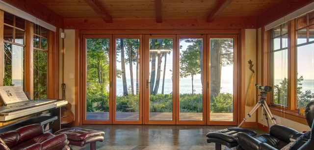 Semiahmoo timber frame home craftsman sunroom other for Timber frame sunroom addition