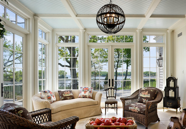 Shingle Style Waterfront Victorian Sunroom New York
