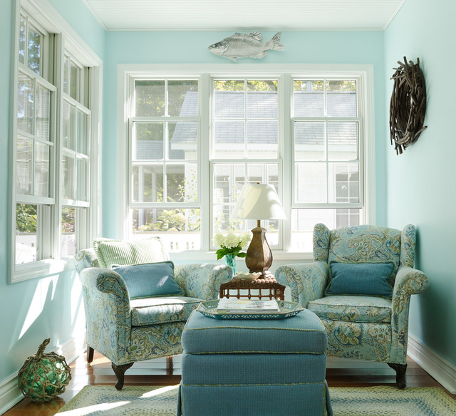 sunroom decor ideas. small lake cottage style \u0026 photography by gridley + graves beach-style- sunroom decor ideas