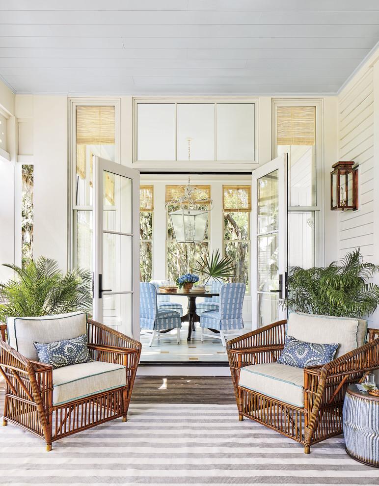 Sunroom - coastal sunroom idea in Jacksonville
