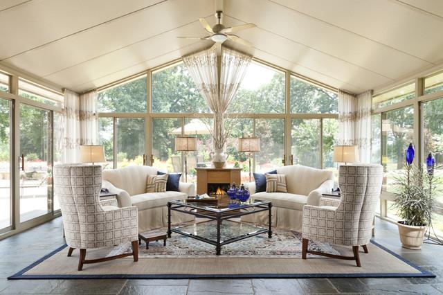 StarrMiller Interior Design, Inc. Traditional Sunroom
