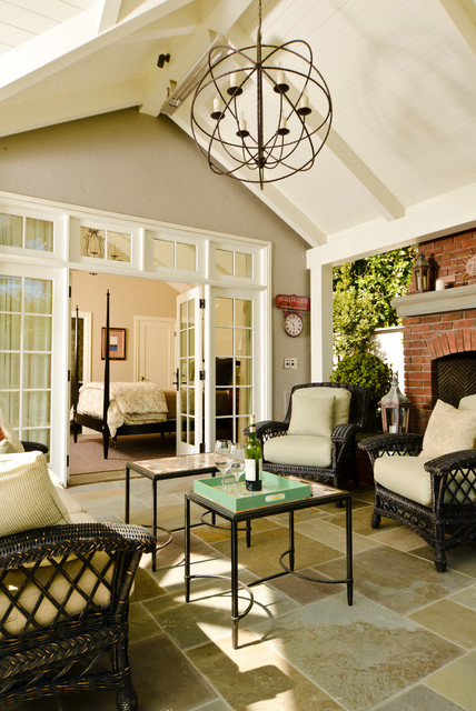 Stucco Tudor Cottage Craftsman Sunroom San Francisco