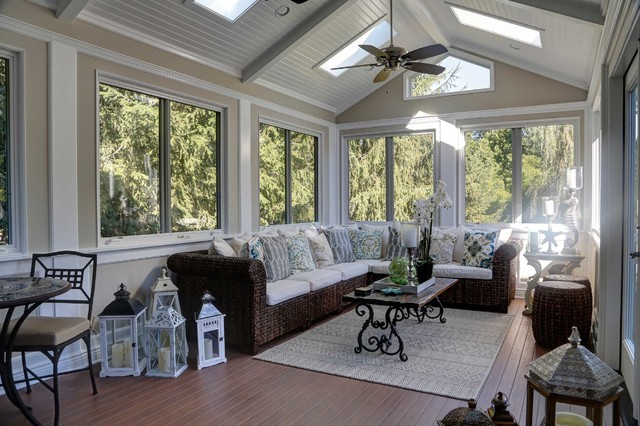 Sun Room Addition Transitional Sunroom New York By