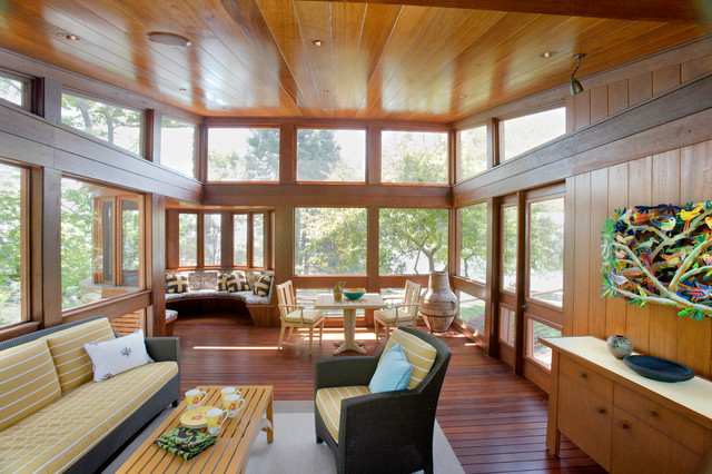 Swampscott Waterfront Residence Contemporary Sunroom