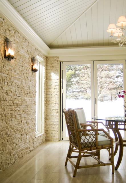Textural Four-Season transitional-sunroom