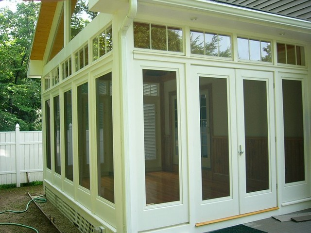 Three season porch and padio traditional sunroom for What is a 3 season porch