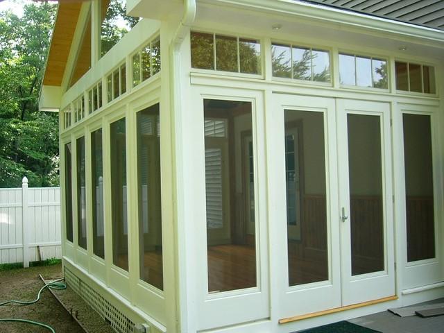 Three Season Porch And Padio Traditional Sunroom