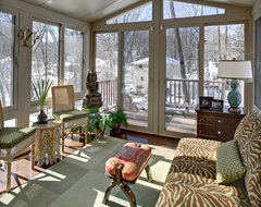 Tracey Stephens Interior Design Inc eclectic porch