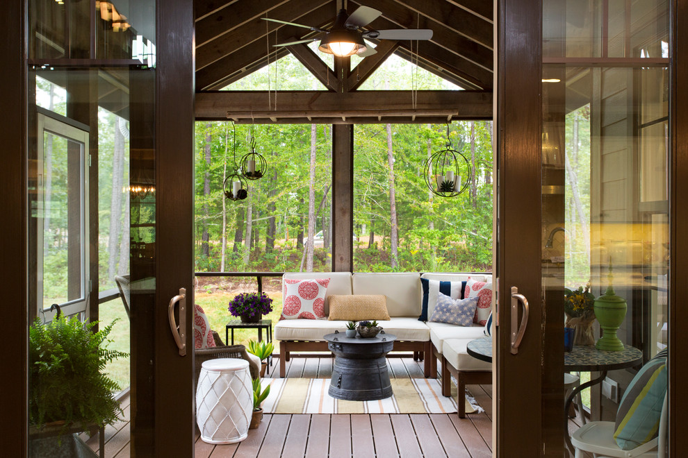 Sunroom - traditional dark wood floor sunroom idea in Richmond with a standard ceiling