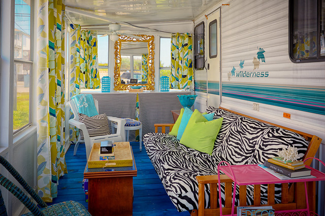 Trailer Chic Strathmere Nj Eclectic Sunroom Philadelphia By Bridget Mcmullin Asid