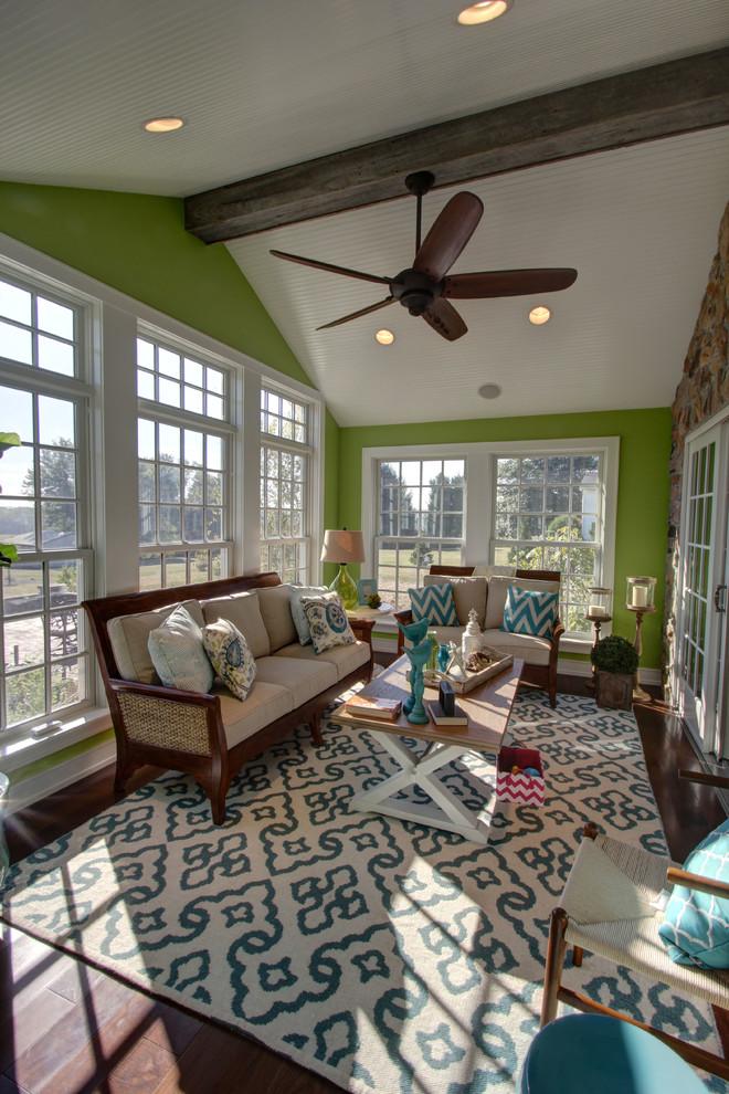 Sunroom - traditional sunroom idea in Columbus