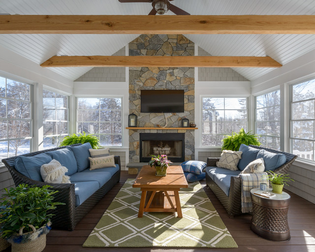 Transitional Sunroom - Craftsman - Sunroom - Boston - by ...