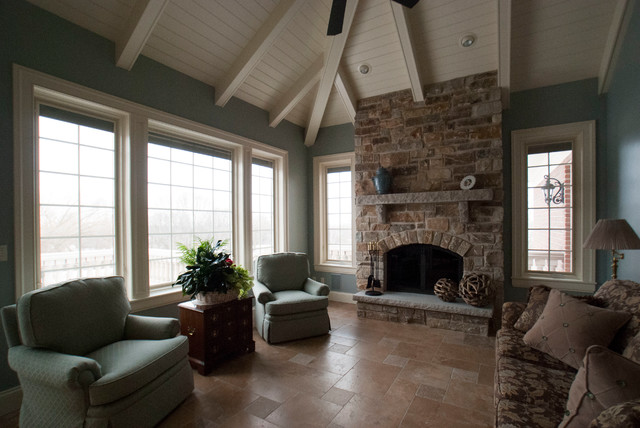 Two story tradition traditional sunroom other by c for Two story sunroom