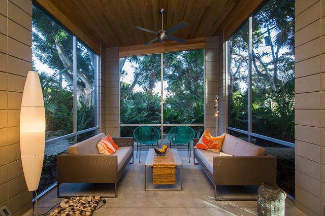 Venice Island Mid Century Modern Midcentury Sunroom