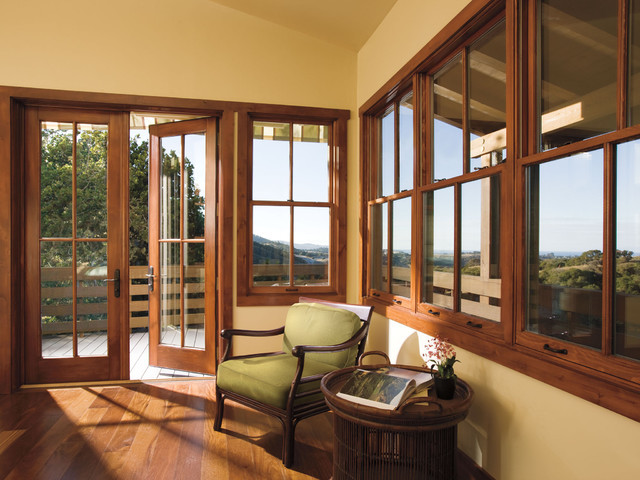Wood patio doors for Wood doors and windows