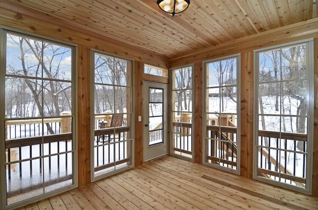 Woolman Woods Model - Spring 2012 rustic-sunroom
