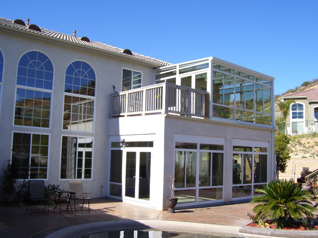 Yucaipa second story sunroom enclosed patio Two story sunroom