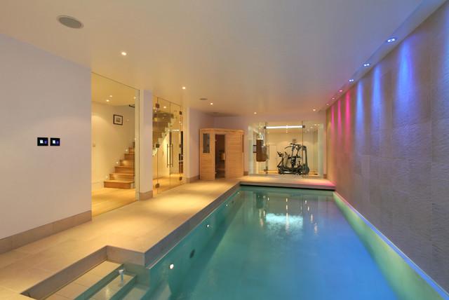 Basement Conversion With Swimming Pool Gym Sauna Golf Simulator