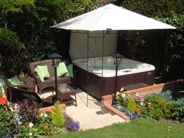 Hot Tub Installs traditional-patio