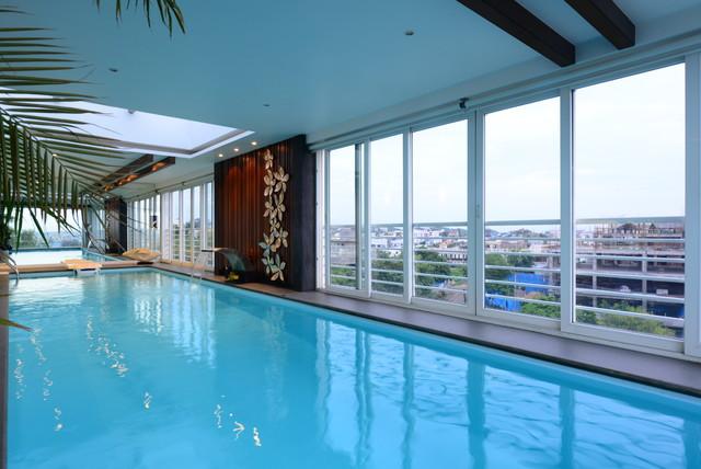 K Srinivas Residence Jhills Hyderabad Contemporary Swimming Pool Hyderabad By H P