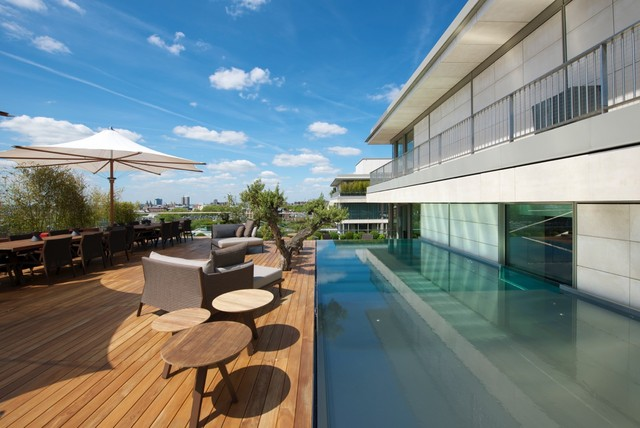 London penthouse - Houses with swimming pools in london ...