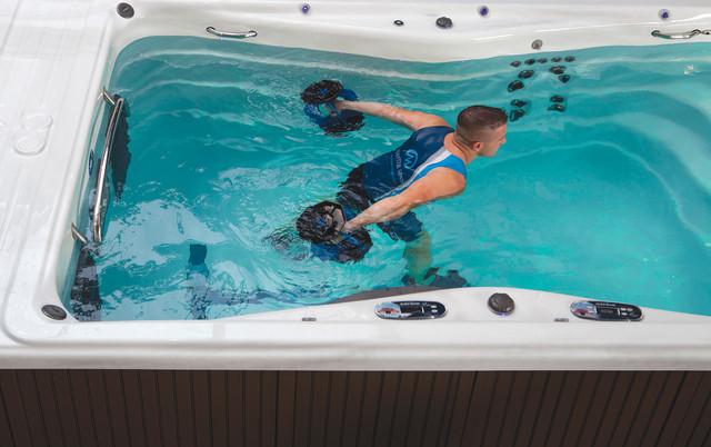 michael phelps signature swim spa cost installation modern pool uk price