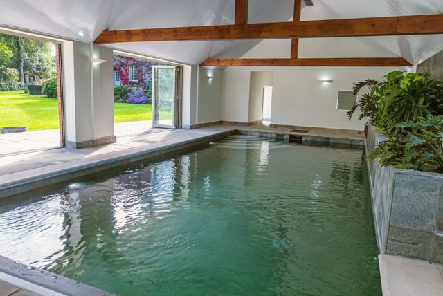 Swimming Pool Extension : New swimming pool barn conversion contemporary
