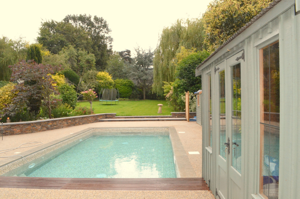 Outdoor Pool With Counter Current System Contemporary Pool Other By Blue Cube Pools Houzz