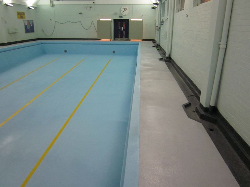 Polyurea And Polyaspartic Coatings For Huddersfield Swimming Pool Refurbishment Modern Pool Other By Resin Flooring North East Ltd