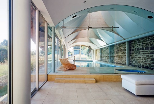 eclectic pool by David Churchill - Architectural  Photographer