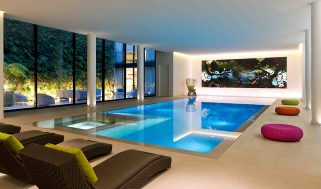 Private house london contemporary swimming pool hot for Pool design london