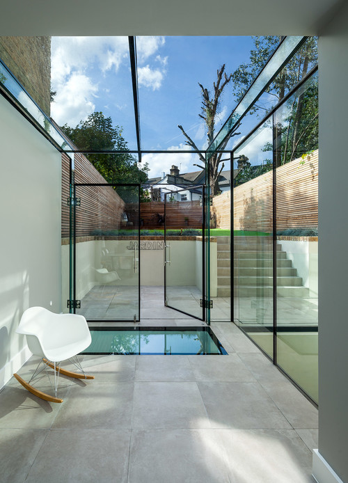 Photo by Mick Haley - More contemporary entrance ideas & Nine things you need to know about glass roofs