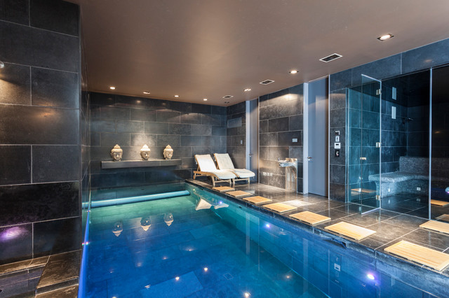 Wimbledon Mansion Contemporary Swimming Pool Amp Hot Tub